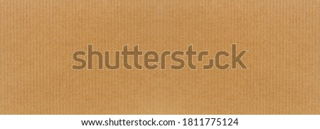 Abstract image of Brown paper texture or cardboard texture for paper box packaging. #1811775124