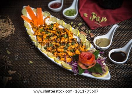 restaurant style chicken majestic recipe Royalty-Free Stock Photo #1811793607