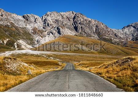 Campo Imperatore and Gran Sasso mountain, Gran Sasso National Park, Abruzzo, Italy #1811848660