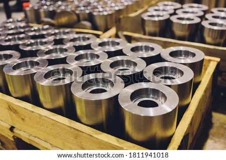 Industrial metal sheet product - used for manufacturing and heavy industry. Royalty-Free Stock Photo #1811941018