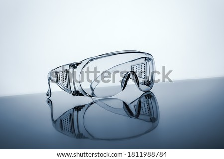 An image of a typical protective goggles Royalty-Free Stock Photo #1811988784