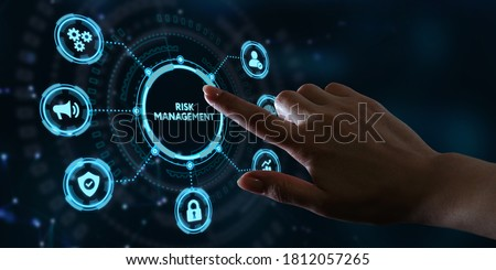 Risk Management and Assessment for Business Investment Concept. Business, Technology, Internet and network concept. Royalty-Free Stock Photo #1812057265