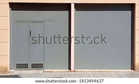 gray wall background with fire outlet. urban background