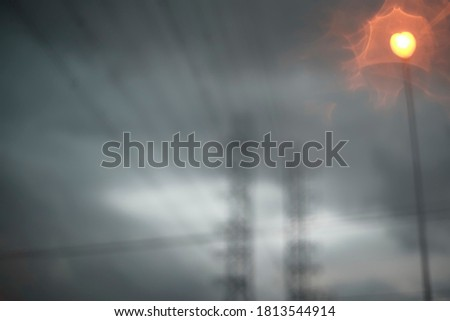 Blurred picture of a scary rain storm.