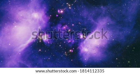stellar nebula and cosmic dust, cosmic gas clusters and constellations in deep space. Ideal for a space science project. Elements furnished by NASA Royalty-Free Stock Photo #1814112335