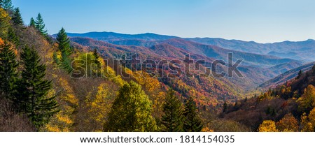 Autumn Scenics in the Great Smoky Mountains National Park Royalty-Free Stock Photo #1814154035