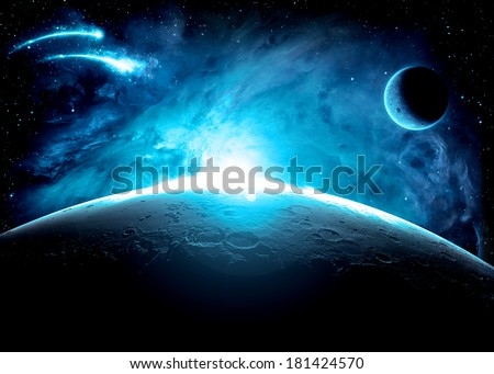 Blue Planet Surface - Elements of This Image Furnished By NASA