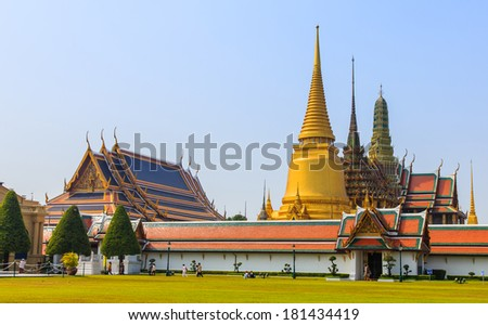 Wat Phra Kaew, Temple of the Emerald Buddha, Bangkok, Thailand. #181434419
