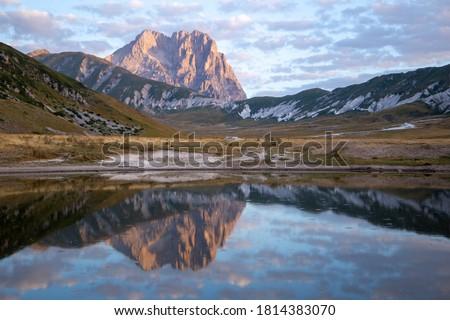 Campo Imperatore and the Gran Sasso massif Gran Sasso National Park Abruzzo Italy #1814383070