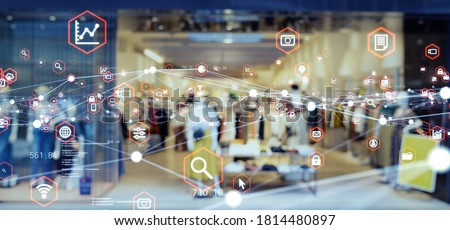 Retail and technology. Retail as a Service.  Royalty-Free Stock Photo #1814480897