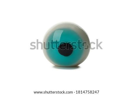 One zombie eye isolated on white background