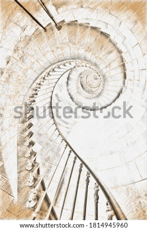 the stairs of cordouan house #1814945960