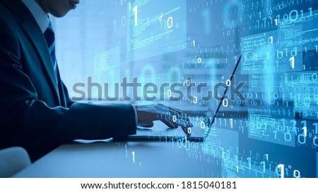 Software development. System engineer. Programming. Digital transformation. *Video version available in my portfolio. Royalty-Free Stock Photo #1815040181