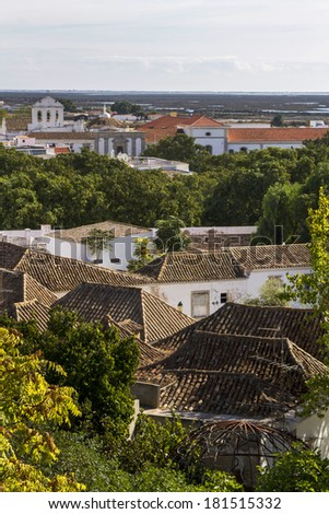 Top view of the historical old town of Faro, Portugal. #181515332