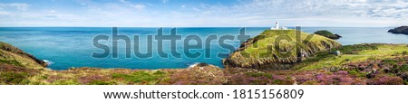 Mountain green hill sea panoramic landscape. Coastline sea panoramic landscape. Sea coastline panorama. Panorama of sea coastline #1815156809