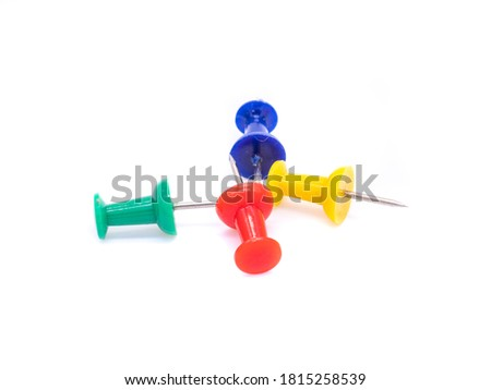 Pinboard pins isolated on a white background #1815258539