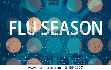 Flu Season Coronavirus theme with abstract dots and virus background Royalty-Free Stock Photo #1815543227