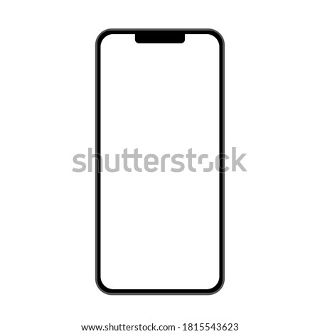 Phone front isolated on white background. Flat vector illustration, design template