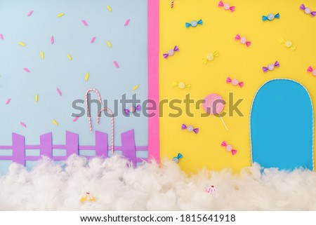 Colorful candy photographic backdrop background Royalty-Free Stock Photo #1815641918