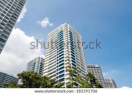 High rise condominiums Royalty-Free Stock Photo #181591706