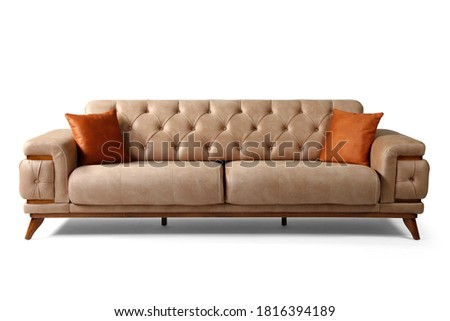 Modern comfortable furniture on white background.front view Royalty-Free Stock Photo #1816394189