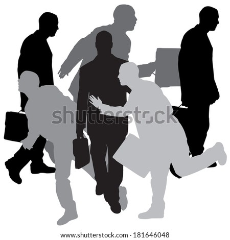 Vector silhouette of businessman on a white background. #181646048