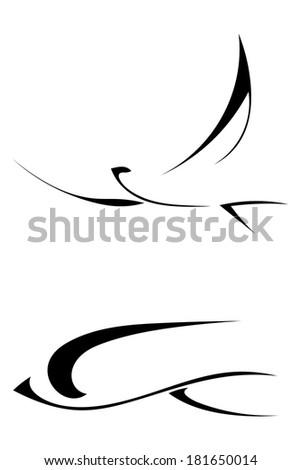 Vector abstract bird