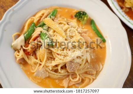 The picture of delicious spaghetti