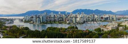 Vancouver Panorama from False Creek Royalty-Free Stock Photo #1817589137