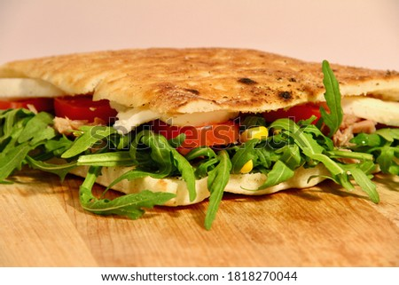 typical italian food - stuffed focaccia #1818270044