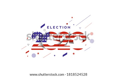 Election day. Usa debate of president voting 2020. Election voting poster. Vote 2020 in USA, banner design. #1818524528
