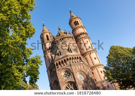 old historic cathedral of Worms, Germany