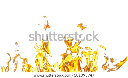 Fire flames on a white background #181893947