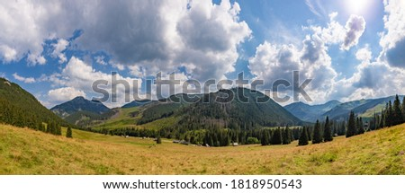 A panorama picture of the Chochołowska Valley (Tatra National Park).