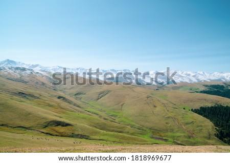 Almaty, Kazakhstan - panoramic view of Assy Plateau in autumn #1818969677