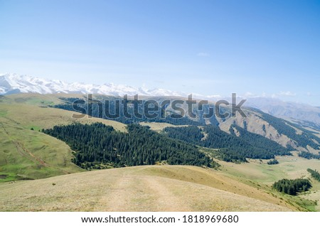 Almaty, Kazakhstan - panoramic view of Assy Plateau in autumn #1818969680