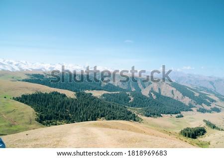 Almaty, Kazakhstan - panoramic view of Assy Plateau in autumn #1818969683