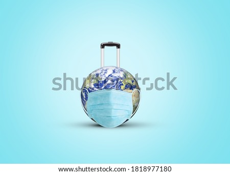 World Tourism Day Concept. Coronavirus effect on tourism. Travel or tourism concept background at corona pendemic time. Royalty-Free Stock Photo #1818977180
