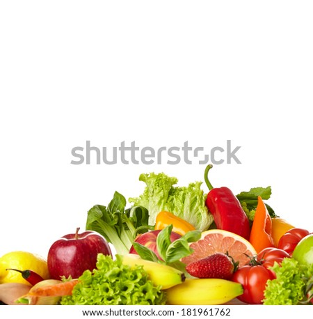 Fruit and vegetable borders  #181961762