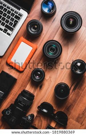 photography desk lens work technology