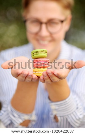 Picture of Paris sweets, colored macaroons