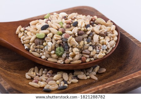 miscellaneous grains, millet, various grains. Royalty-Free Stock Photo #1821288782