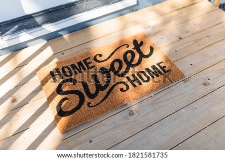 Home sweet home. Welcome home. Royalty-Free Stock Photo #1821581735