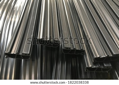 extruded rubber profiles cut to length Royalty-Free Stock Photo #1822038338