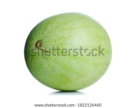 Mini fersh watermelon on white background isolation
