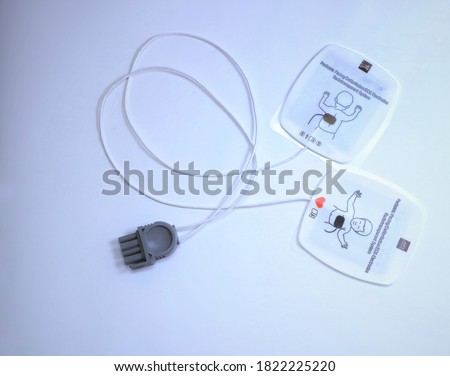 Pediatric combo pads used for defibrillation and pediatric life support Royalty-Free Stock Photo #1822225220