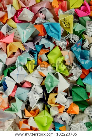 Paper boats background #182223785