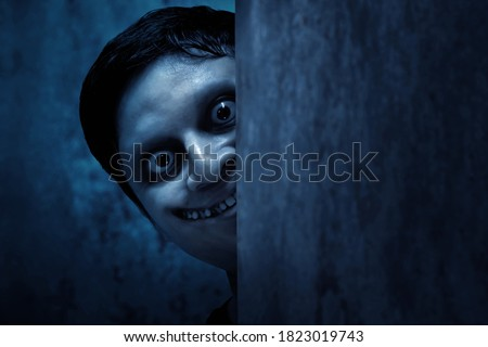 Scary ghost face, halloween theme