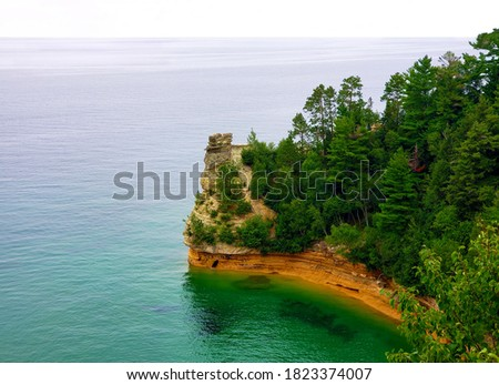 The Miners Castle formation, one of the icons of Pictured Rocks National Lakeshore.