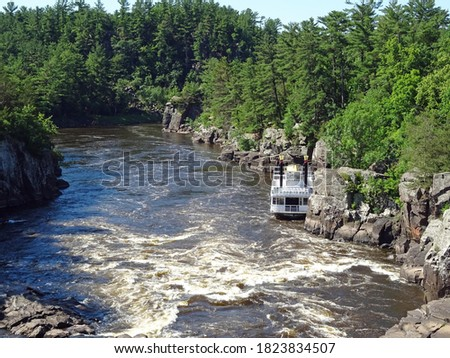 A paddleboat on the St Croix River, Wisconsin #1823834507